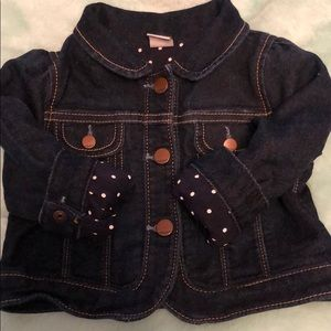 GAP lined denim jacket sz 18-24 mos
